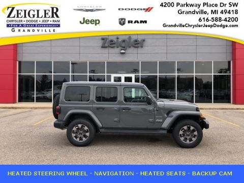 Pre-Owned 2019 Jeep Wrangler Unlimited Sahara With Navigation & 4WD